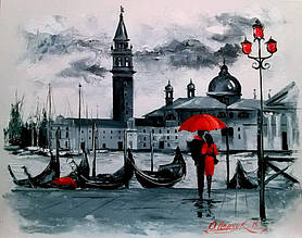 Алмазна вишивка Любов на березі Венеції