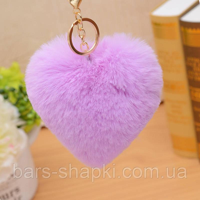 Брелок сердце, цвет фиолетовый