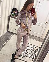 Спортивный велюровый костюм 4544