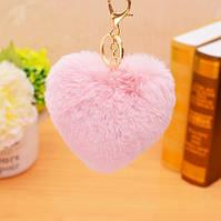 Брелок сердце, цвет персиковый, фото 1