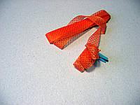Лента полиэстровая, 15 мм, оранжевая в сеточку, 2,94 метра