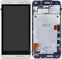 Дисплей HTC One M7 Dual Sim 802w с сенсорным экраном White (high copy)