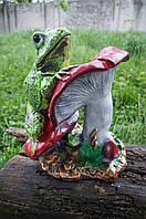 Статуэтка садовая Жаба на грибе