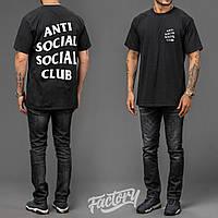 Футболка с принтом assc   Anti Social social club logo