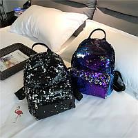 Рюкзак с цветными пайетками