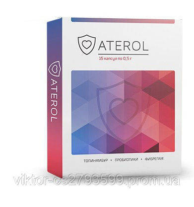 Препарат Aterol с пробиотиками для снижения холестерина (15 капсул)
