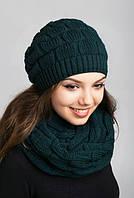 Очаровательный комплект из шапочки и шарфа-петли