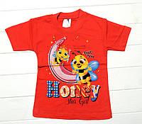 """Футболка для девочек """"Пчелка"""" 1-4 года"""
