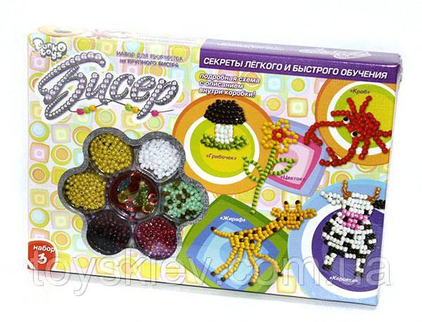 Набор для творчества из крупного бисера Danko Toys 1. Б6-4
