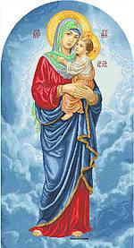 """Схема для вишивки бісером на атласі ікона """"Богородиця Намісна"""" великий розмір (56х105)см"""