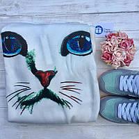 Женская толстовка свитшот с принтом кота