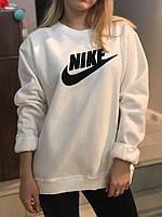 Кофта Nike белая без капюшона
