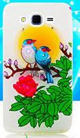 Накладка для Samsung A700H Galaxy A7 силикон Diamond Silicone Romantic Birds