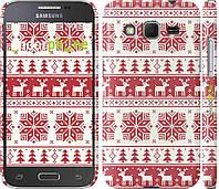 Накладка для Samsung G360H/G361 Galaxy Core Prime Duos пластик Endorphone новый год и красные олени (1487c-76)