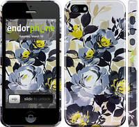 Накладка для Samsung G850F Galaxy Alpha пластик Endorphone цветы акварелью 3 глянец (2276c-65-308)