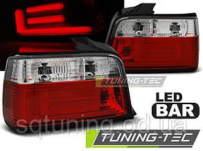 Задние фонари BMW E36 12.90-08.99 SEDAN RED WHITE BAR LED