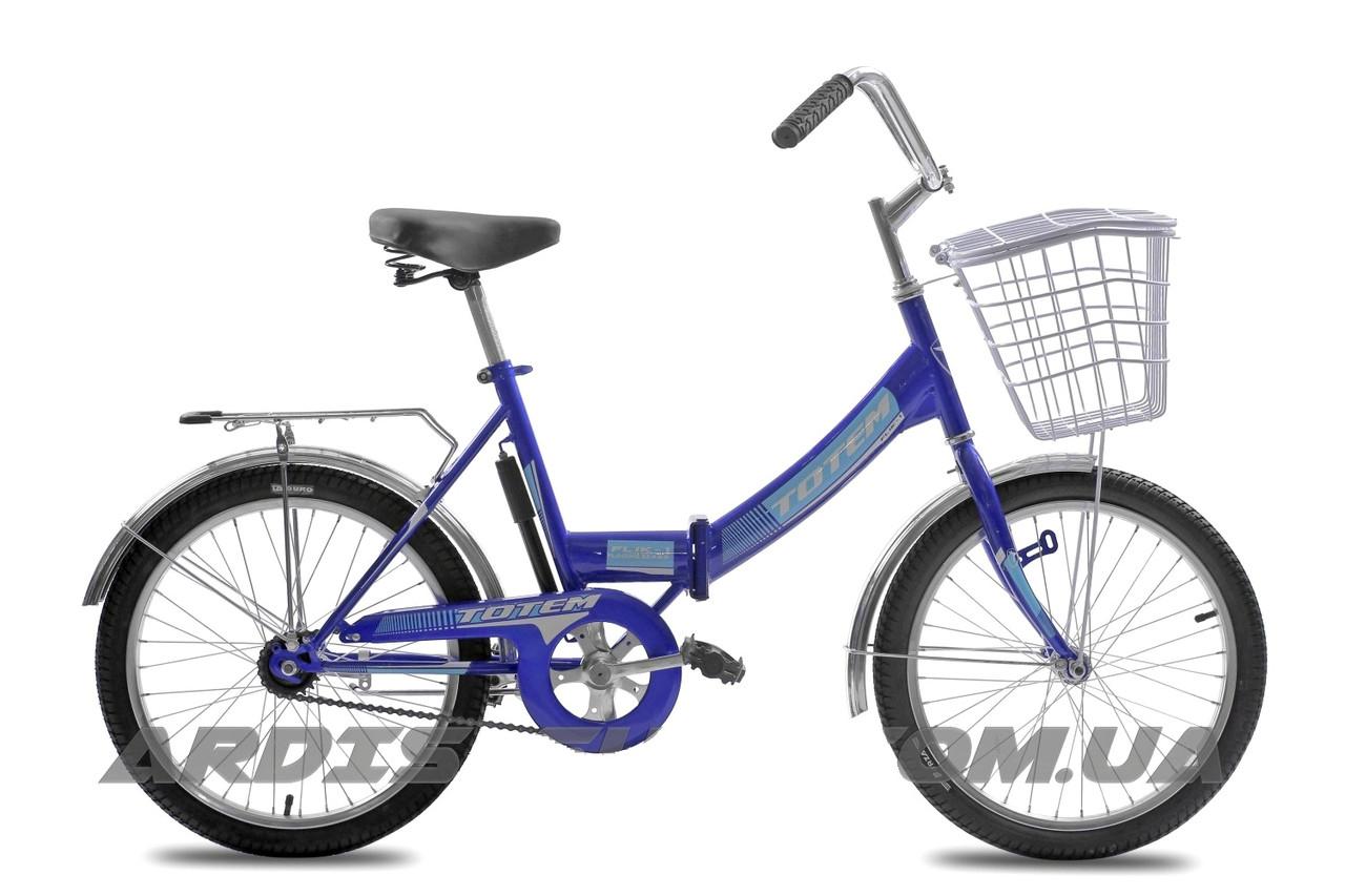 """Складной велосипед TOTEM FLIK-1  20"""" 16""""  Синий"""