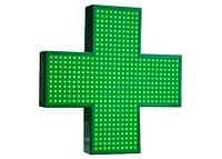 Вывеска рекламная Светодиодный Аптечный крест  1000*1000 зеленый, фото 1
