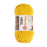 Пряжа Kartopu Tempo желтая горчица №1321 для ручного вязания
