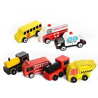 Деревянная игрушка Транспорт MD 1010, деревянная машинка, игрушка, детская машинка