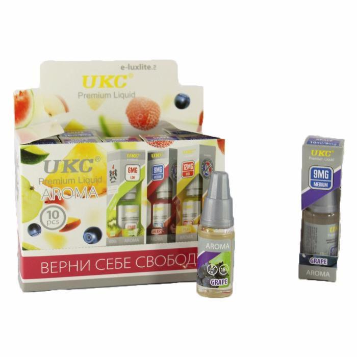 Жидкость для электронных сигарет UKC заправка жижа упаковка с никотином