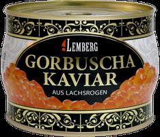 Красная лососевая икра горбуши Lemberg Германия 500 грамм в жесть банке