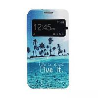 Чехол-Книжка для Samsung A300H Galaxy A3 Infinity Glamour голубой океан -10261