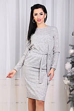 Женский костюм, ангора - софт, р-р 42-46; 46-50 (серый)
