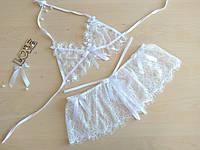 Сексуальное белье кружевной комплект лиф и стринги , фото 1