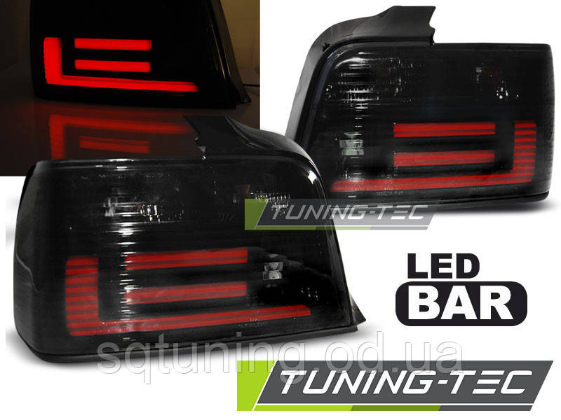 Задние фонари BMW E36 12.90-08.99 SEDAN SMOKE BAR LED