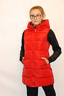 Женская жилетка Tina 18401 красная  код 088А