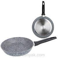 Сковорода d24 см алюминий с гранитным  покрытием Maestro