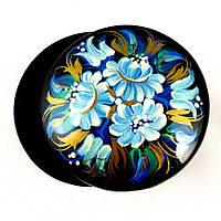 Современная шкатулка с синими цветами