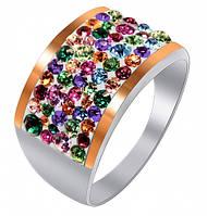 Кольцо из серебра с кристаллами SWAROVSKI (Россыпь), фото 1