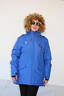 Женская куртка-парка Azimuth 7960-89 ярко синяя код 725А
