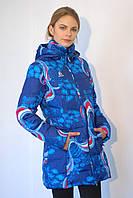Женская горнолыжная куртка Azimuth 1178-42 син/бел/красная код  712А