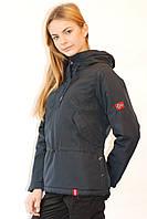 Женская демисезонная  куртка Remain 7543 темно-синяя код 027А