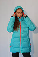 Женская термо куртка Azimut 8210-35 мята  код 032А
