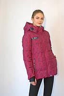 Женская термо куртка Azimut 8268-38 фиолет  код 033А