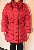 Женская  куртка Remain 7557 бордовая код 047А