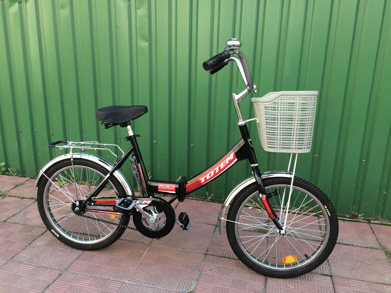 """Складной велосипед TOTEM FLIK-1 20"""" 16""""  Черный"""