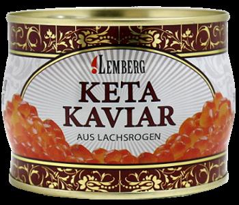 Красная лососевая икра кеты Lemberg Германия 500 грамм в жесть банке, фото 2