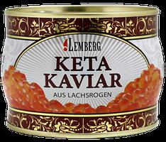 Красная лососевая икра кеты Lemberg Германия 500 грамм в жесть банке