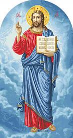 """Схема для вишивки бісером на атласі ікона """"Іісус Христос (намісна)"""" великий розмір (56х105)см"""