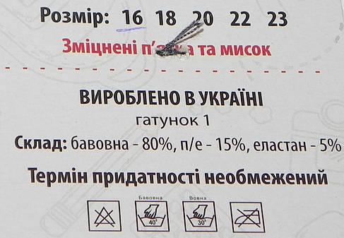 Носки детские деми ТМ Прилуки р. 16 черные, фото 2
