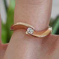 Золотое кольцо с одним камнем - Кольцо для помолвки золото - Кольцо для предложения  золото 78b8bb3d949f5