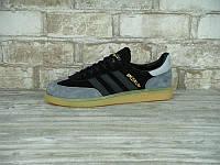 Мужские кроссовки Adidas Spezial Original Black/Grey, адидас