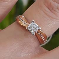Золота каблучка для заручин - Кольцо для помолвки золото - Кольцо для предложения  золото 20f1d0d339595