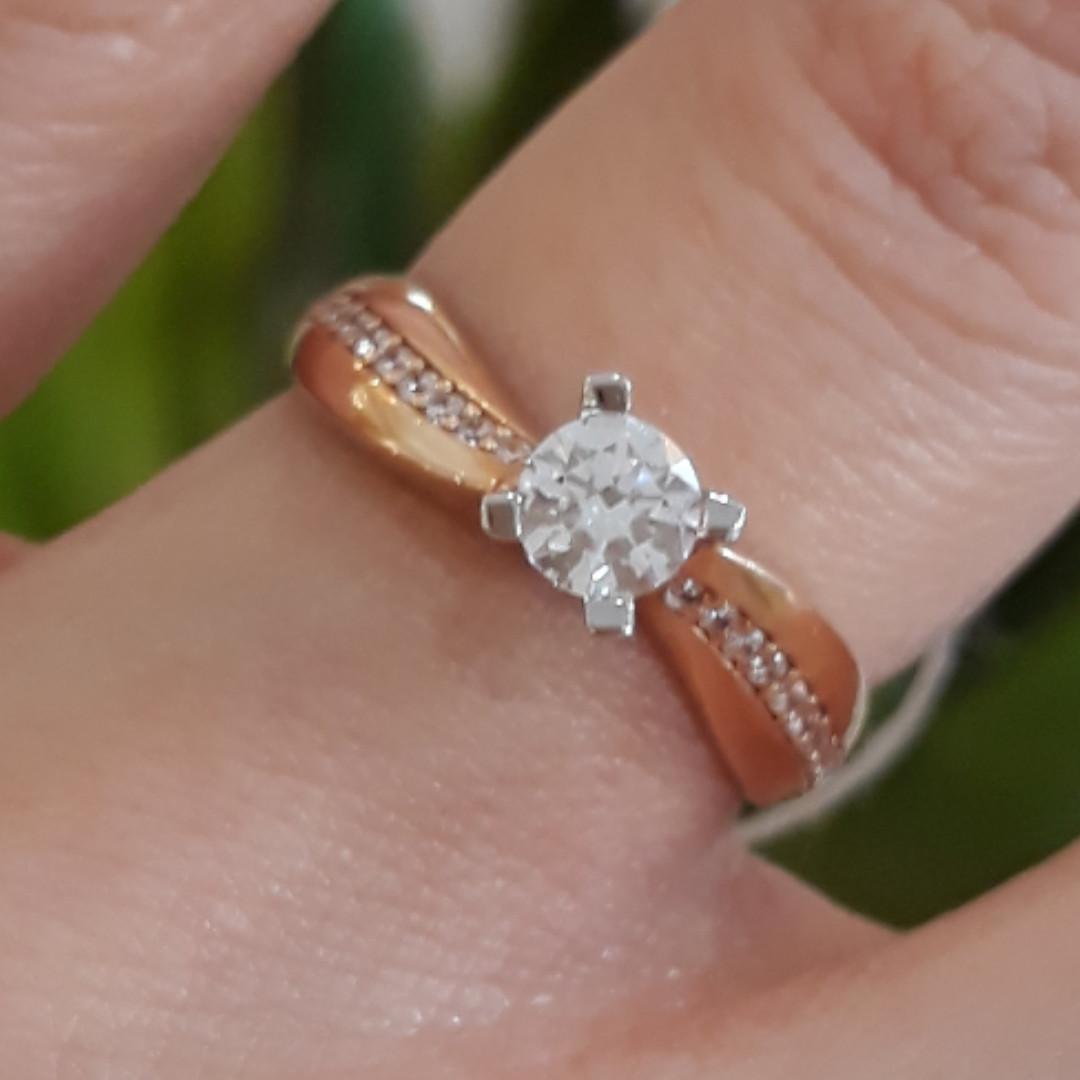 Золота каблучка для заручин - Кольцо для помолвки золото - Кольцо для предложения золото