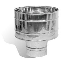 Дефлектор нержавейка Версия Люкс D-250 мм толщина 0,6 мм